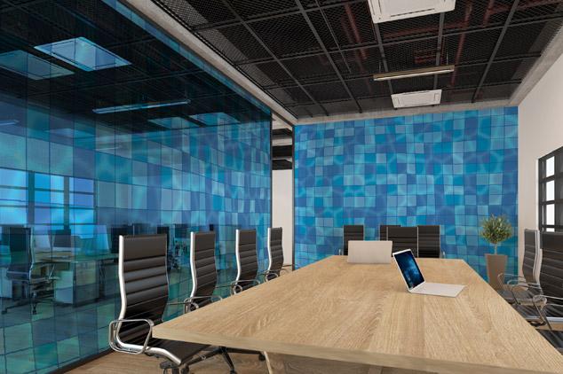 vetro con stampa digitale per ufficio