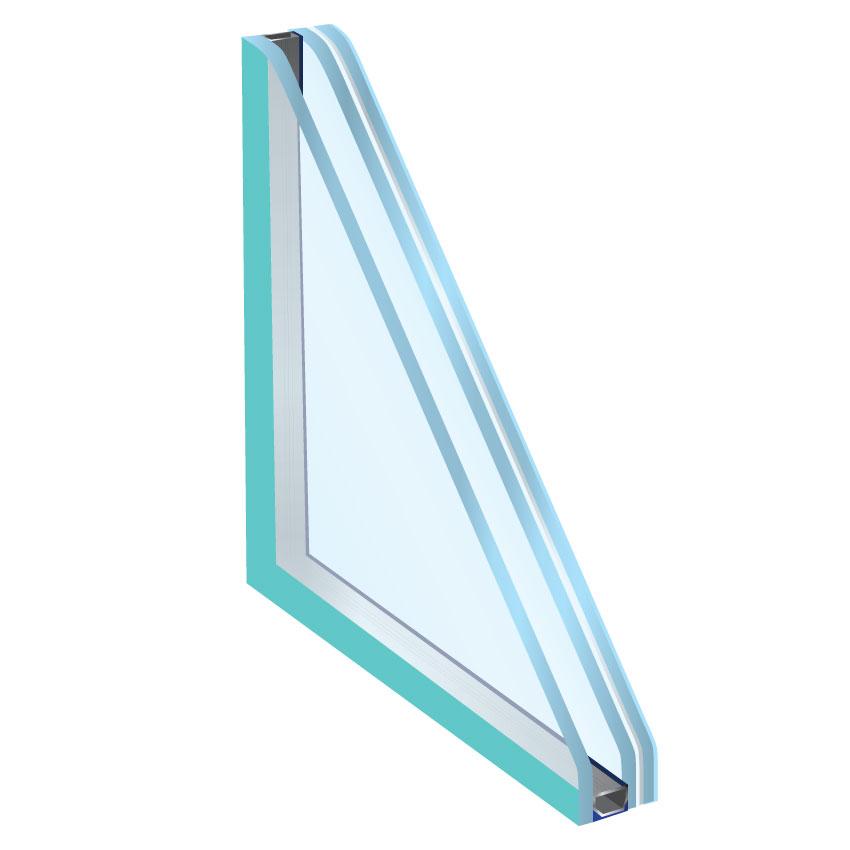 Vetro isolante con vetro stratificato